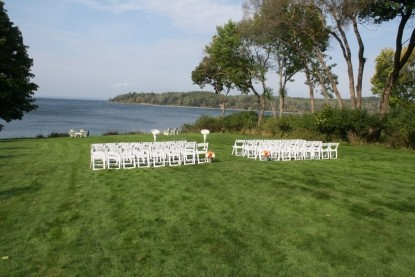Saltair Inn Waterfront Bed and Breakfast -Wedding Set-up