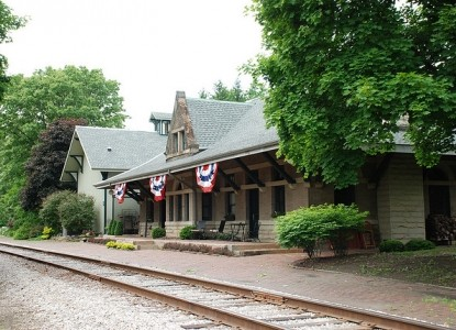 Located at the Depot, an 1890's Lake Shore and Michigan Southern passenger train station.