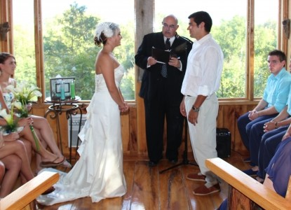 Nolichuckey Bluffs Bed and Breakfast Cabins-Smoky Mountain Wedding at the chapel