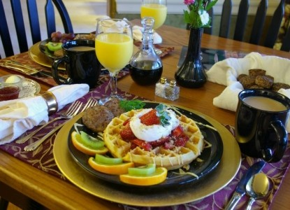 Brookside Mountain Mist Inn; breakfast