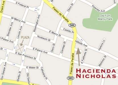 Hacienda Nicholas Bed and Breakfast-Map