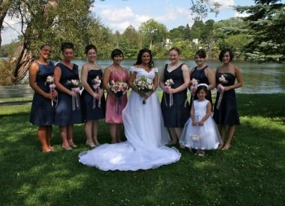 The Brewster Inn-bridal party at brewster inn