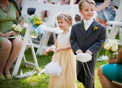 The Brady Inn ring boy and flower girl