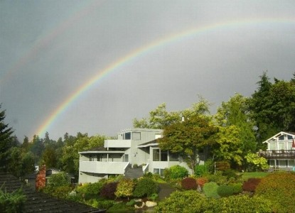 Eagle's View Bed and Breakfast, beautiful rainbow