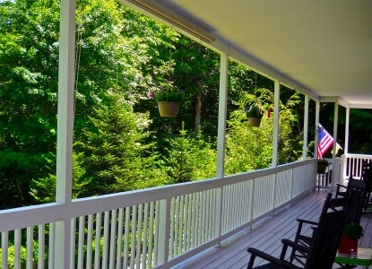 Bald Mountain House at the Wolf Laurel Resort porch