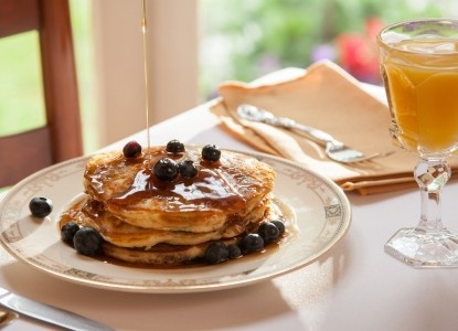 breakfast at Landmark Inn Cooperstown