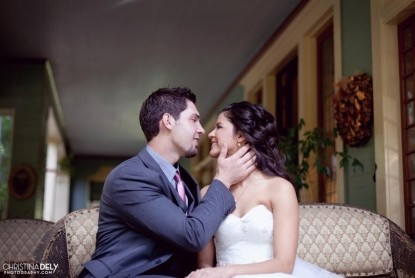 The Bissell House Bed & Breakfast, South Pasadena, California, wedding couple