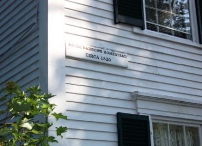 Main Street B & B, small sign