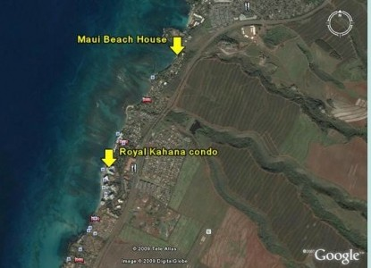 Lahaina, Hawaii, Maui Beach B&B locations