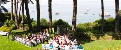 The Lost Whale Bed & Breakfast Inn wedding outside