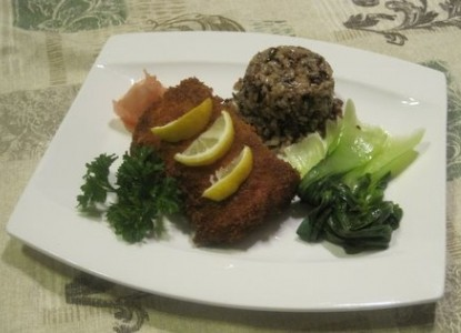 Sauteed Salmon in Panko Breadcrumbs