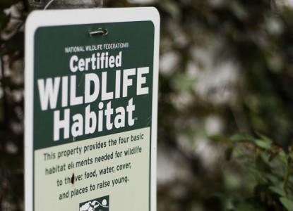 Adam's Inn Bed & Breakfast-Certified wildlife habitat sign