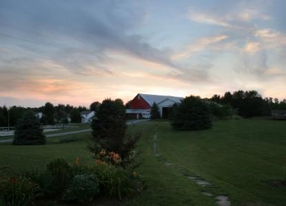 The Inn at Westwynd Farm, sunset