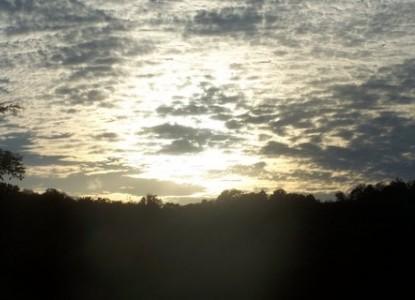 Walnut Hill House B&B Retreat sunset