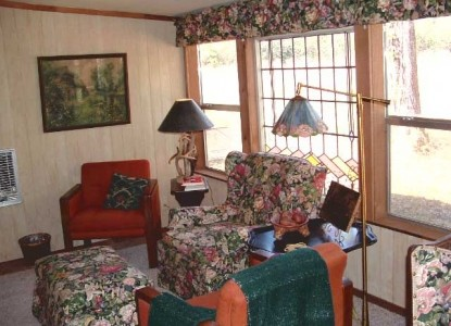 Ethridge Farm Log Cabin Bed and Breakfast couches