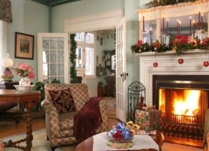 The Rookwood Inn fireplace