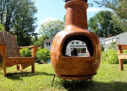 Buttonwood Inn backyard fire pit area
