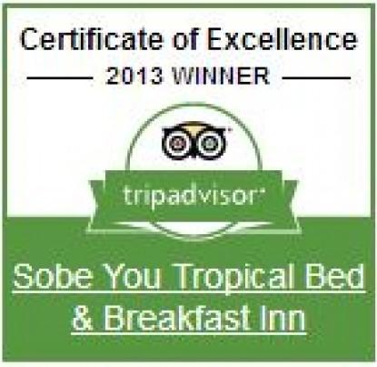 SoBeYou Tropical Bed & Breakfast, Trip advisor