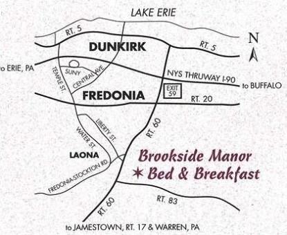 Brookside Manor Bed & Breakfast Map