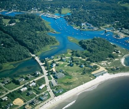 Seaside Inn-Maine from above