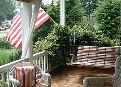 Sand Castle Inn Bed and Breakfast porch