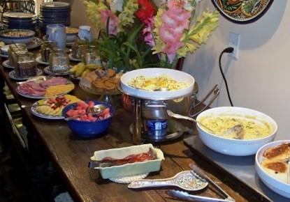 Blue Lake Ranch Bed & Breakfast breakfast buffet