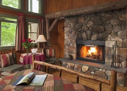 Friends Lake Inn fireplace