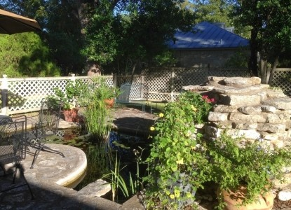 Relax on the Patio by the Koi Pond