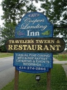 Cooper's Landing Inn & Traveler's Tavern front sign