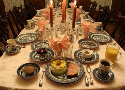 The Grand Anne Bed & Breakfast dining table