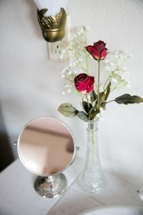 Triangle Ranch B&B mirror and rose
