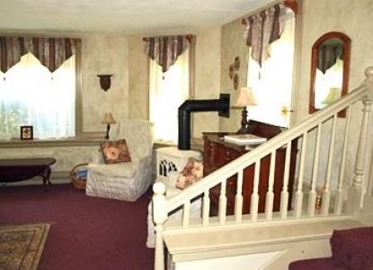 Inn at Tanglewood Hall billiard room stairs