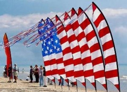 Red Forest Bed and Breakfast-American Flags