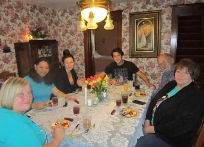 Elvis Tribute Eating Breakfast