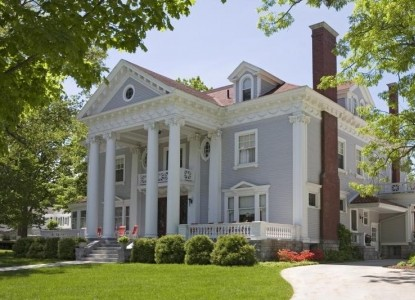 Gracious 1905 neo-classical mansion in historic Traverse City neighborhood, just two blocks to downtown shops and beaches.