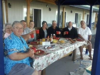 Mango Sunset Bed & Breakfast Inn at Lyman Kona Coffee Farms dinner pic