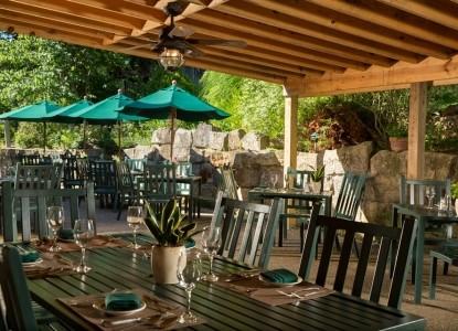 Inn & Spa At Cedar Falls patio