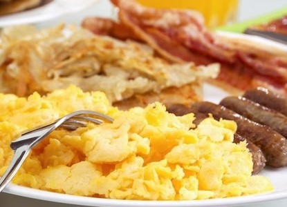 Rabbit Creek Bed & Breakfast eggs and bacons