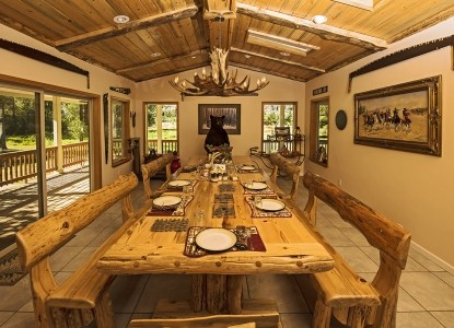 Mountain Retreat on a 60-acre working ranch adjacent to the inviting Clark Fork River, just 10 minutes from Thompson Falls.