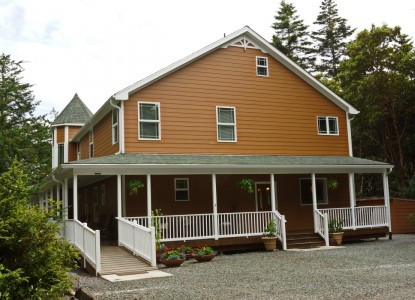 12 Acres Bed and Breakfast is located north of Port Orford on US 101.