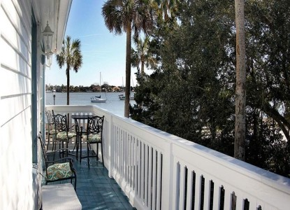Bayfront westcott house bed and breakfast room rates and for Balcony dictionary