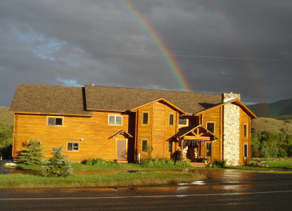 The Inn is a unique, log lodge located just two miles south of historic Red Lodge, Montana and nestled at the base of the Beartooth Highway.