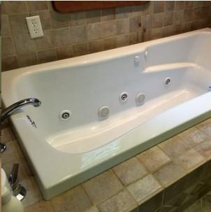 The Coburn Room Bathroom Whirepool bath tub