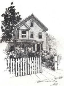 Morrison House Bed & Breakfast, illustraion of house.