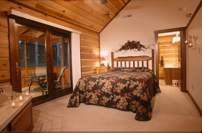 Cabins and Cadlelight bedroom