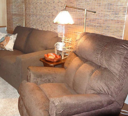 Relax in a comfortable recliner after a full day of activities