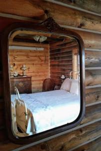 Cabin master in mirror