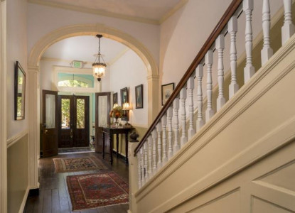 Rachael's Dowry, grand staircase and entrance