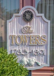 The Towers Bed and Breakfast Sign