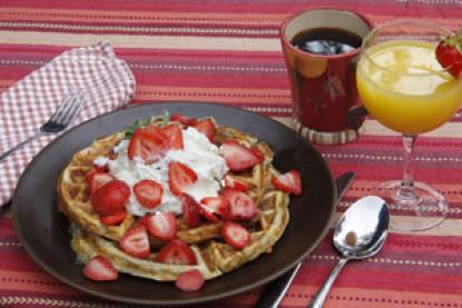 Madeline waffles and tea
